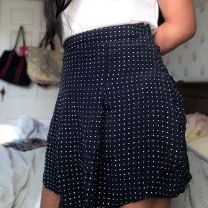 Forever 21 Poka Dot Mini Skirt Size: Small